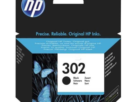 HP 302 Sort 190 sider